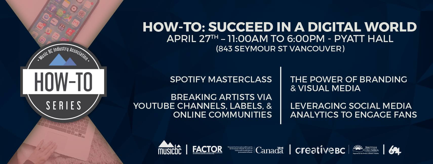 Free Workshop April 27th Speak For >> Music Bc Workshops Speakers How To Series Music Bc