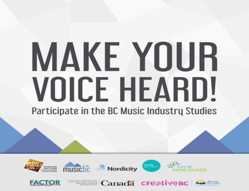 MAKE YOUR VOICE HEARD! TAKE THE MUSIC INDUSTRY SURVEY