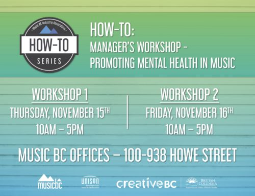 Music BC Announces Two Managers Mental Health Workshops!