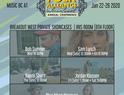 BC Artists at Folk Alliance with BreakOut West